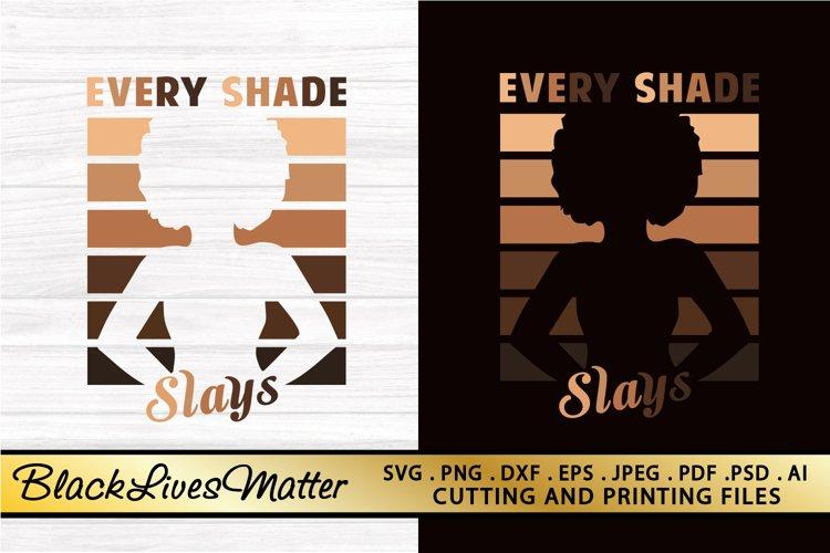 Black Woman SVG PNG EPS DXF Black Girl SVG AFRO Lady SVG example image 1