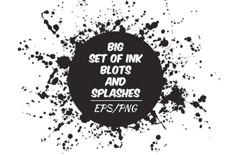 Ink blots and splachers set
