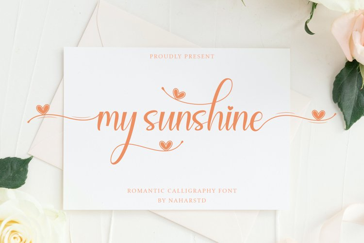 My Sunshine - Romantic Calligraphy Font example image 1