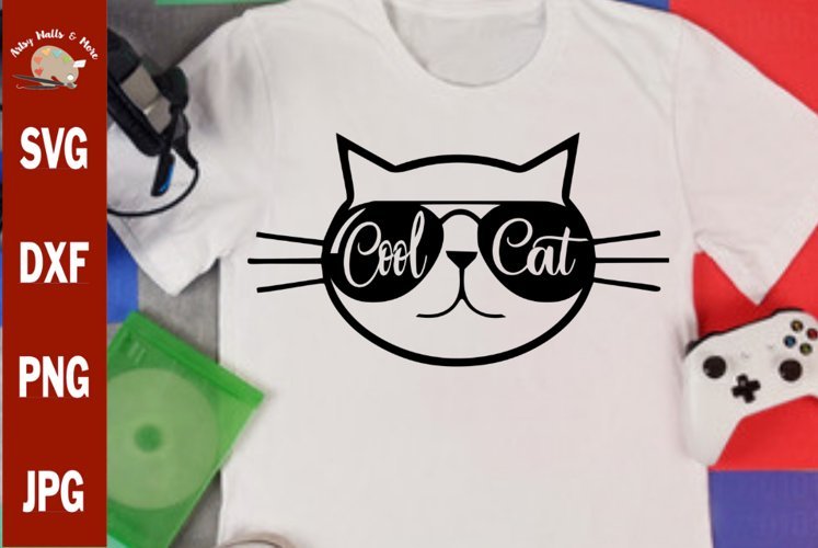 Cool Cat svg, funny cat svg cut file, funny cat shirt svg