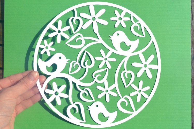 Bird paper cut SVG / DXF / EPS files example image 1