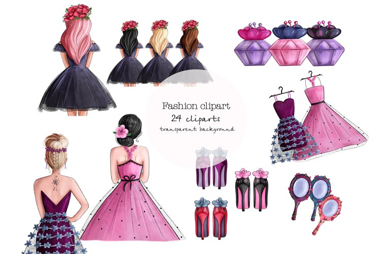 Fashion spring girls clipart png