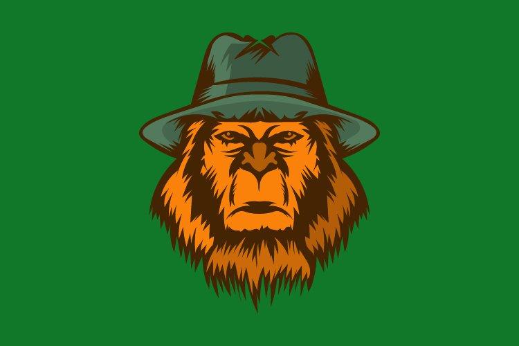 Gorilla adventure vector logo template - Eps 10 example image 1