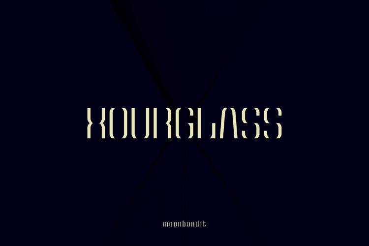 Hourglass - Uniquely Elegant typeface