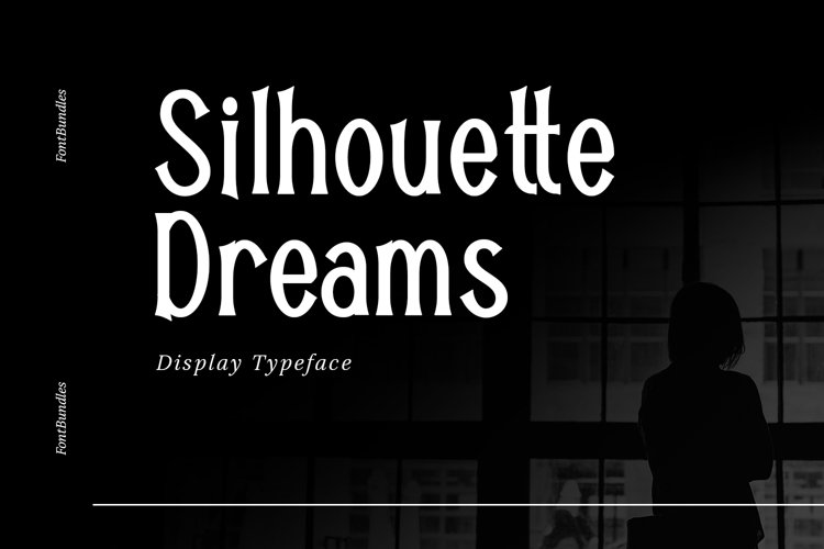 Web Font Silhouette Dreams example image 1