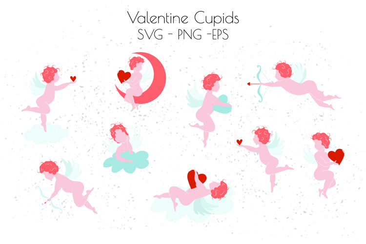 Cupid SVG, Cupid clipart, Valentine's Day SVG example image 1