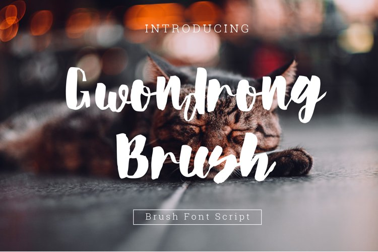 Gwondrong brush Font Script example image 1