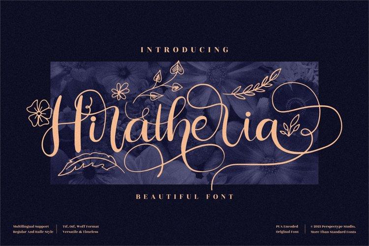 Hiratheria - Beautiful Script Font example image 1