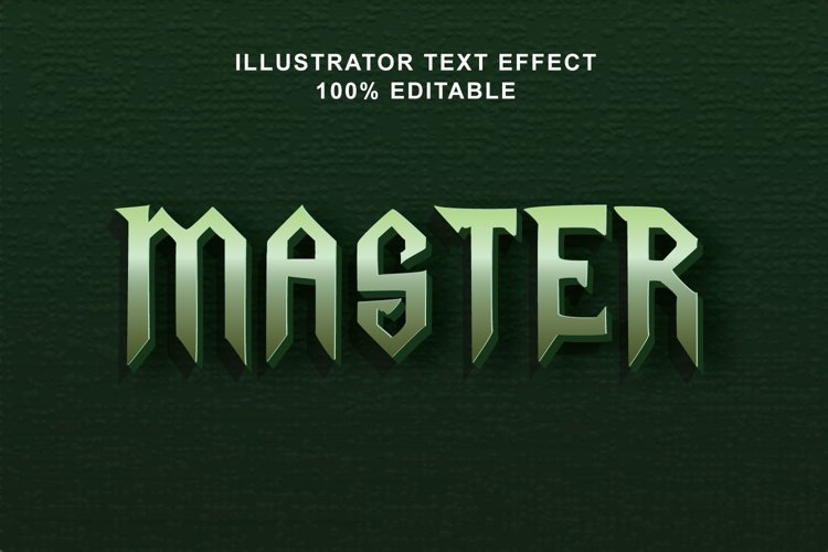 master text effect editable vector example image 1