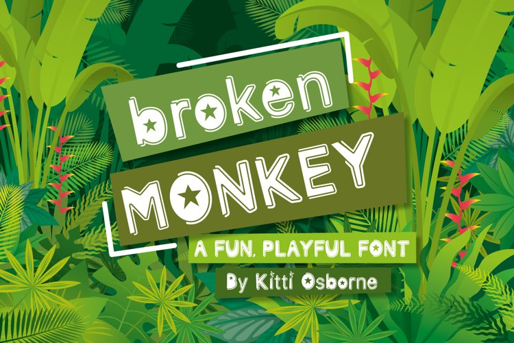Broken Monkey - playful font example image 1
