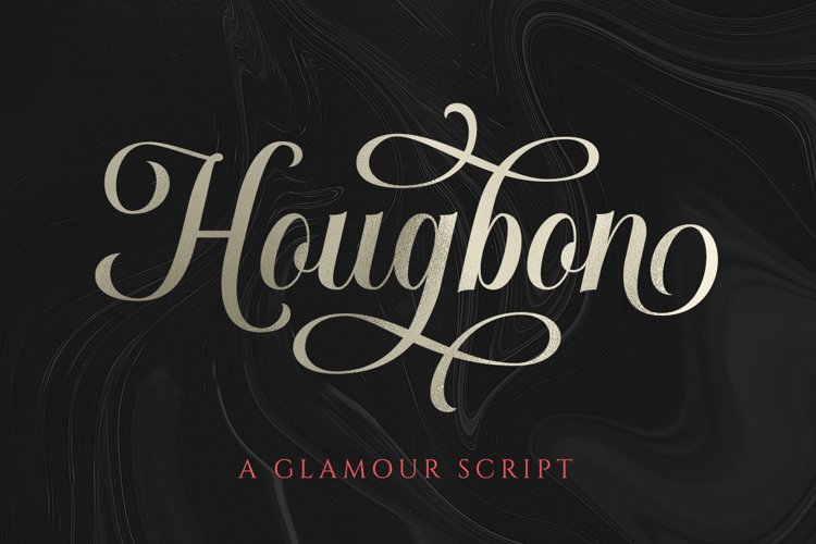 Hougbon A Glamour Script example image 1