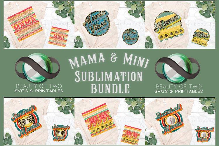 Sublimation Bundle Mama Mini Retro png Bundle 12 png designs