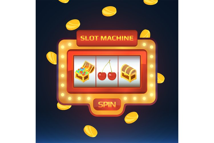 Armed bandit, game machine in casino with different isolated example image 1