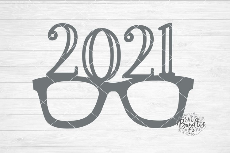 2021 Glasses Graduation/New Years- SVG DXF PNG example image 1