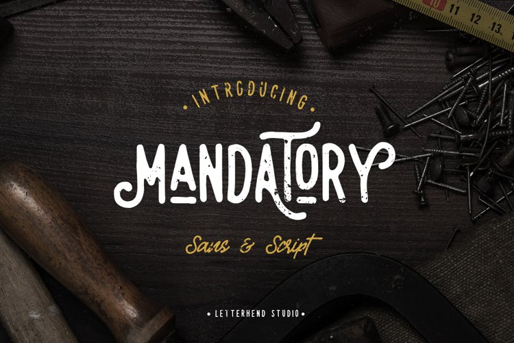 Mandatory Vintage Font Duo ! example image 1