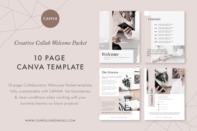 Welcome Packet Canva Template example image 1