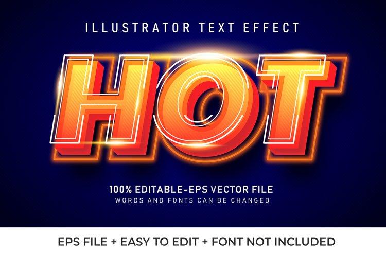 HOT Vector Text Effect