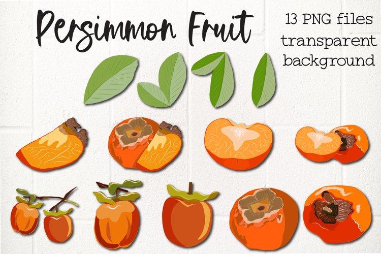 Persimmon, Khaki Fruit Clipart