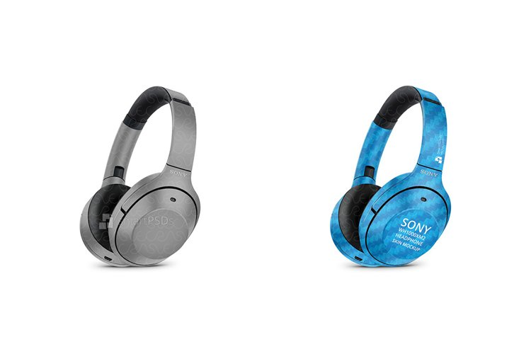 Sony WH1000XM2 Wireless Headphone Skin Design Template example image 1