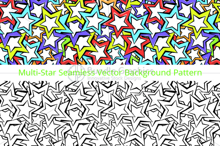 Stars - Colorful Vector Pattern  example image 1