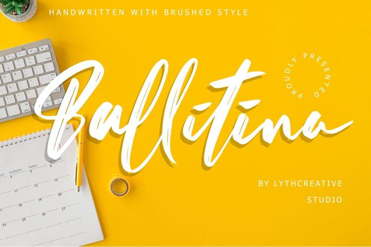 Ballitina Brushed Font example image 1