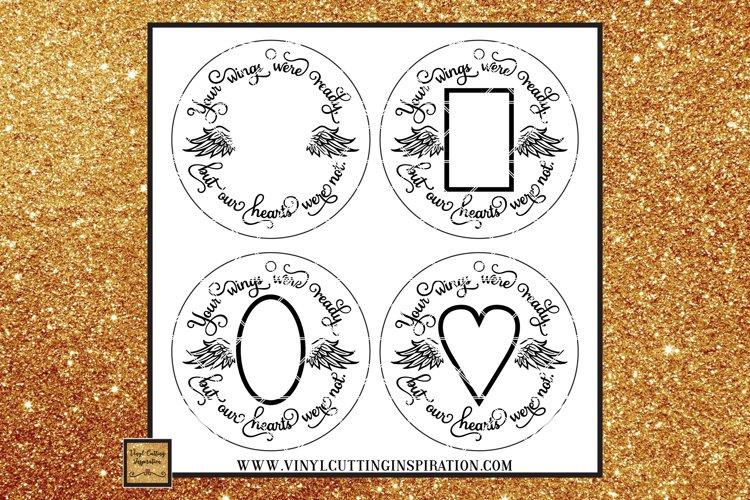 Memorial Ornament Template Sublimation Bundle Svg Files Dxf