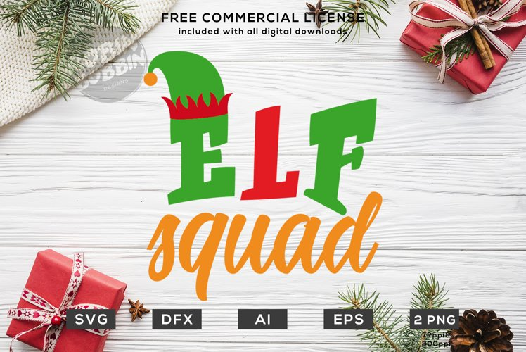 Elf Squad Christmas Design SVG DXF example image 1