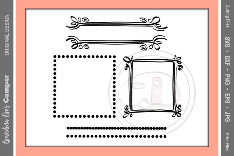 Frames SVG, Circles and Dots Craft Frames example image 1