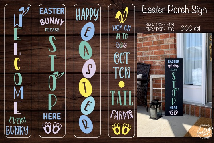 Easter porch sign. Easter porch. Easter welcome sign.