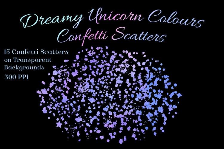 Dreamy Unicorn Colours Confetti Scatters - 15 Overlays