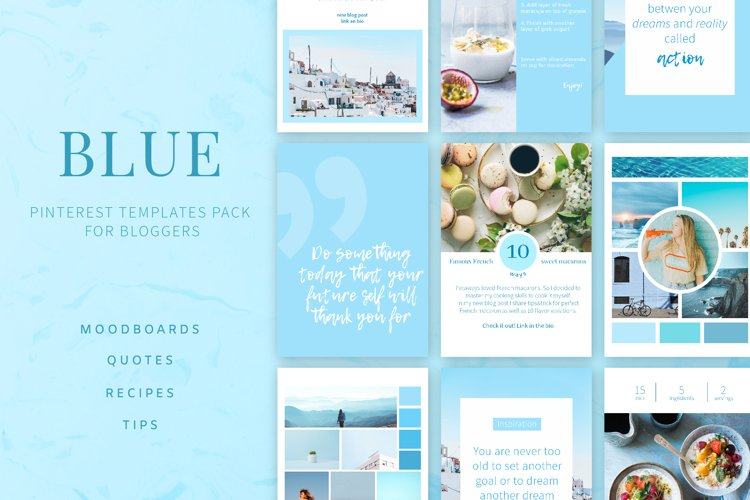 Blue | Pinterest PSD templates pack example image 1