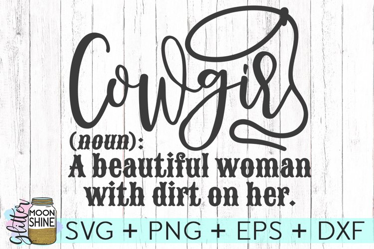 Cowgirl Definition SVG DXF PNG EPS Cutting File example image 1