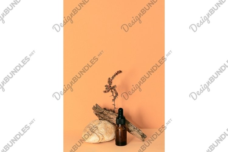 Dropper glass bottle of essential oil or serum example image 1