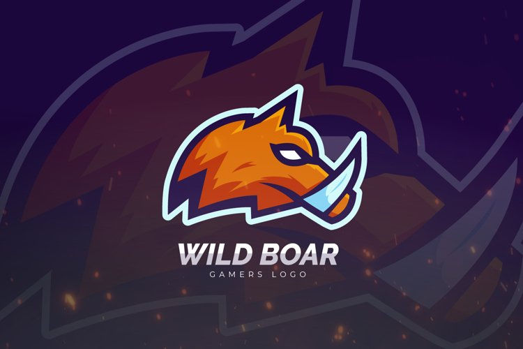 Wild Boar Mascot And Esport Logo example image 1