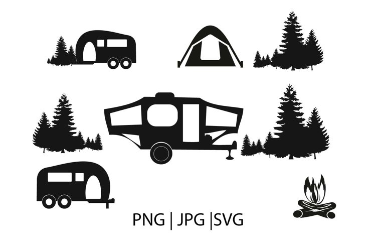 Camping clipart svg file example image 1