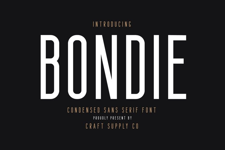 Bondie - Condensed Sans Serif example image 1