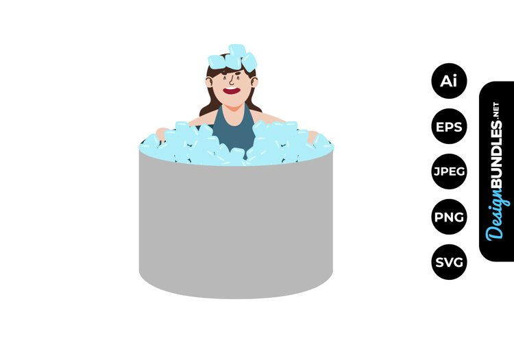 Girl in Hot Weather Clipart example image 1