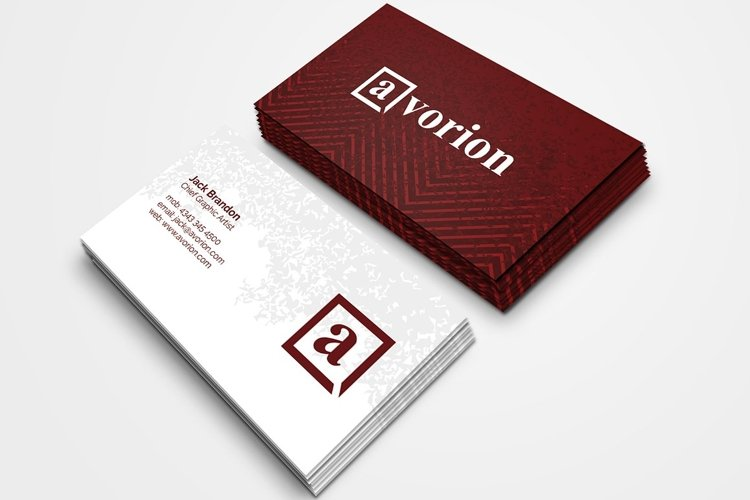 Creative Firm Business Card 3 example image 1