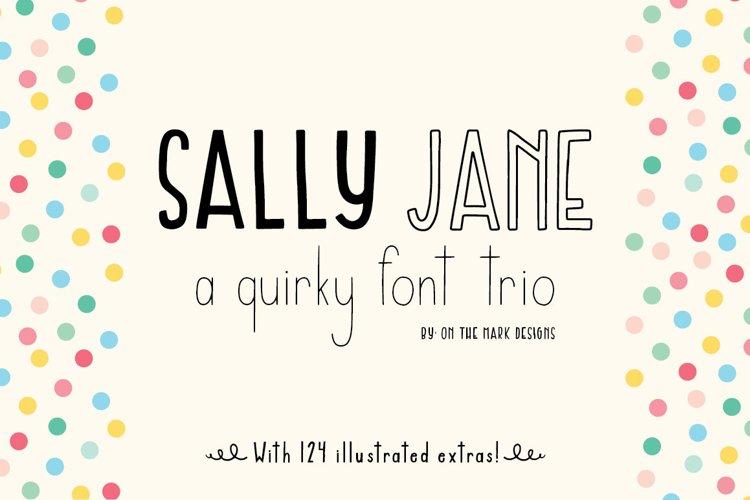 Sally Jane San Serif Font Trio