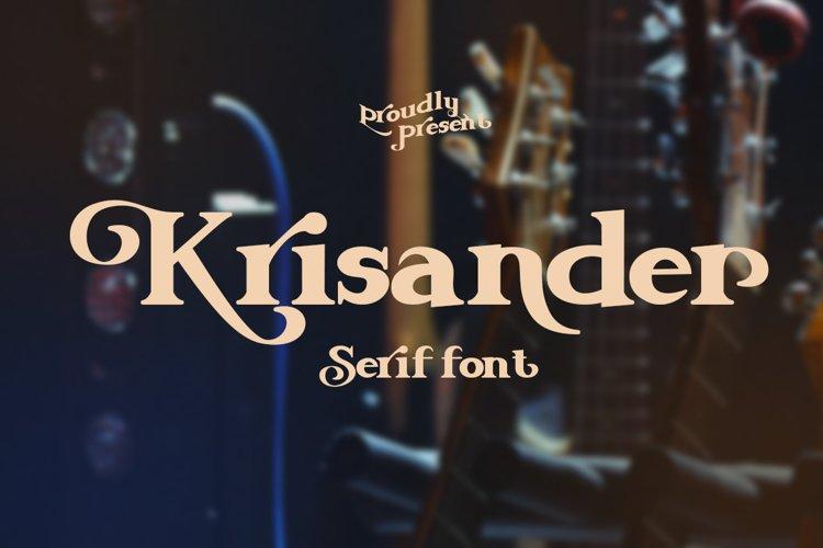 Krisander Modern Serif Font example image 1