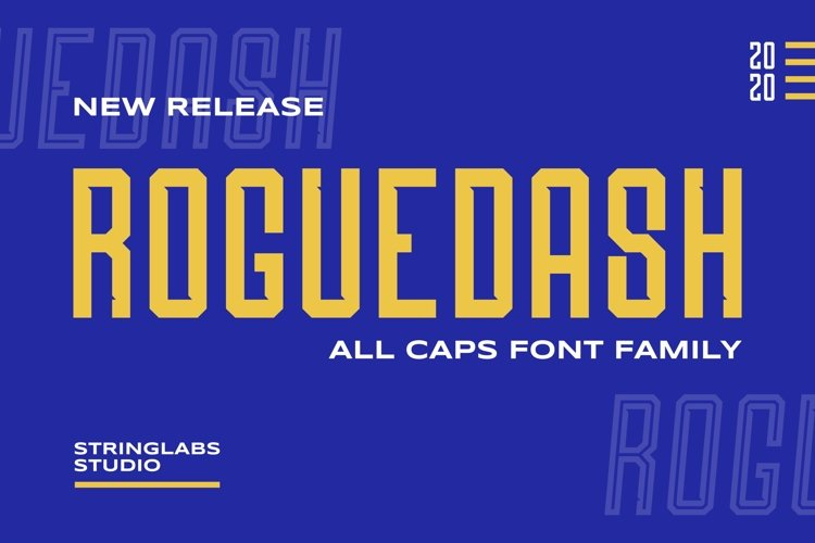 Roguedash - Stylish Sans Font Family example image 1