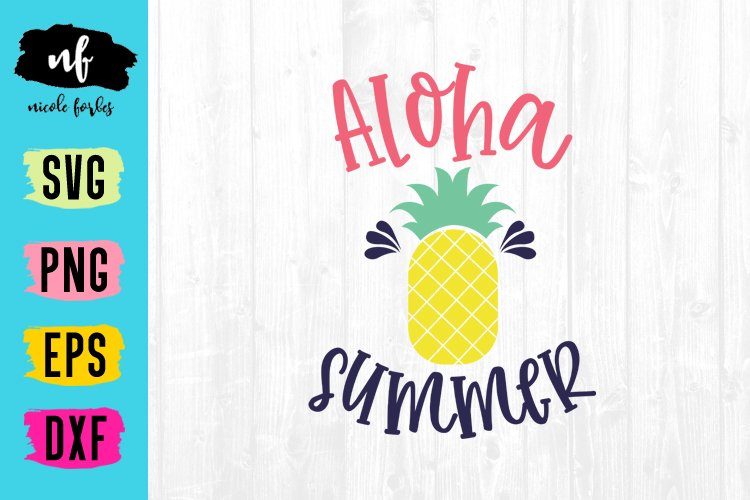 Aloha Summer SVG Cut File example image 1