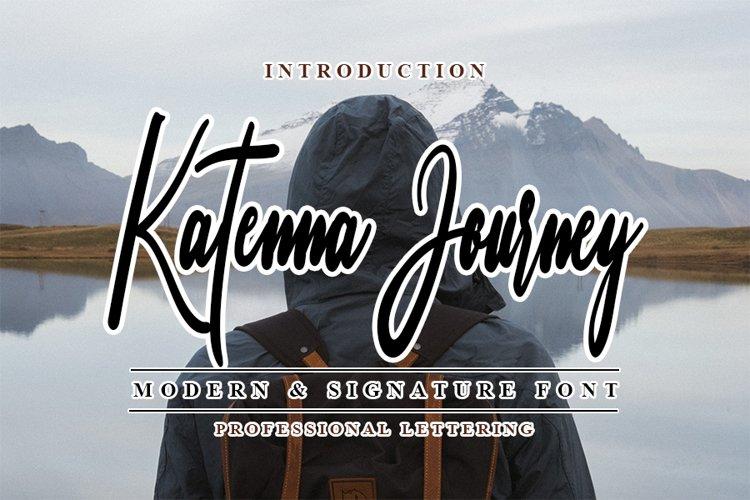 Katenna Journey - Modern adventure Font example image 1