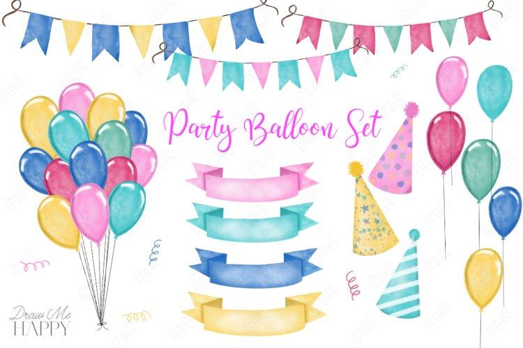 Balloon Clipart, Party Clipart, Balloons example image 1