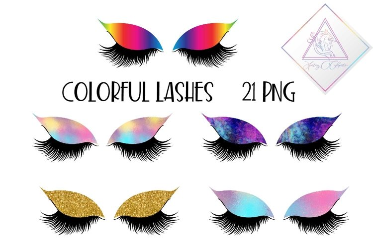 Colorful Lashes Clipart