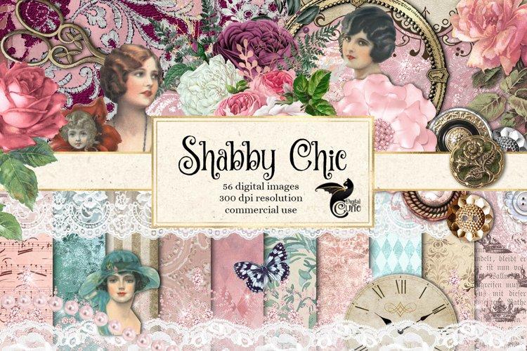 Shabby Chic Digital Scrapbooking Kit example image 1
