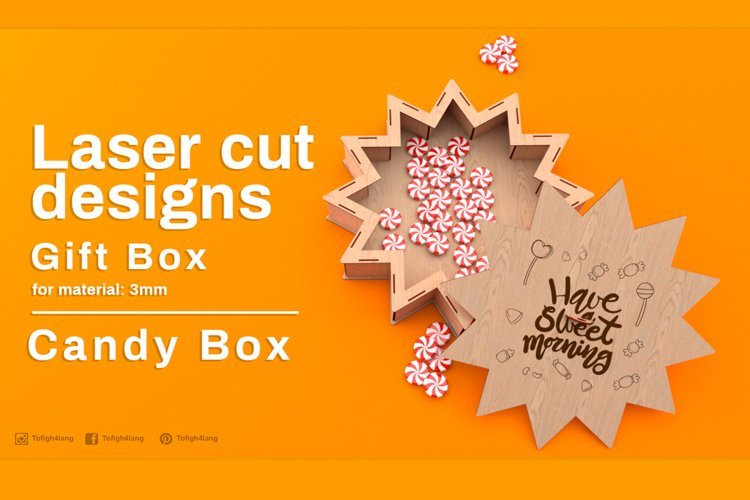 Gift Box - laser cutting example image 1