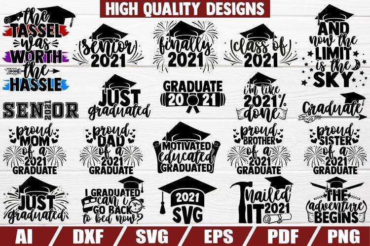 Graduation 2021 Bundle svg - 20 designs - cut file - dxf