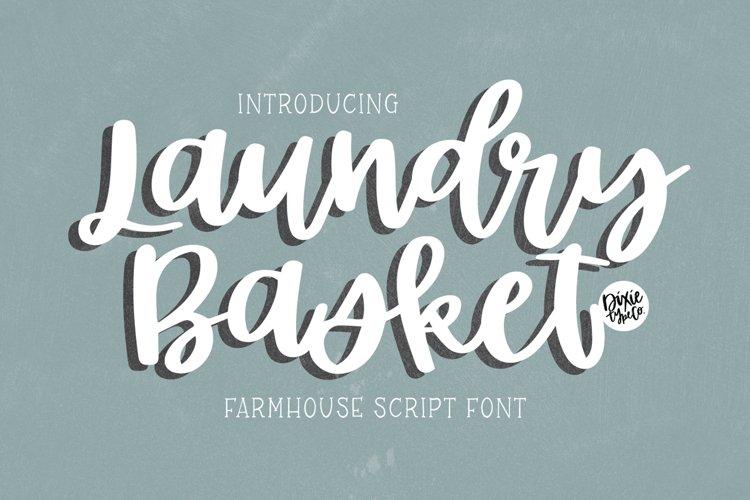LAUNDRY BASKET Farmhouse Script example image 1
