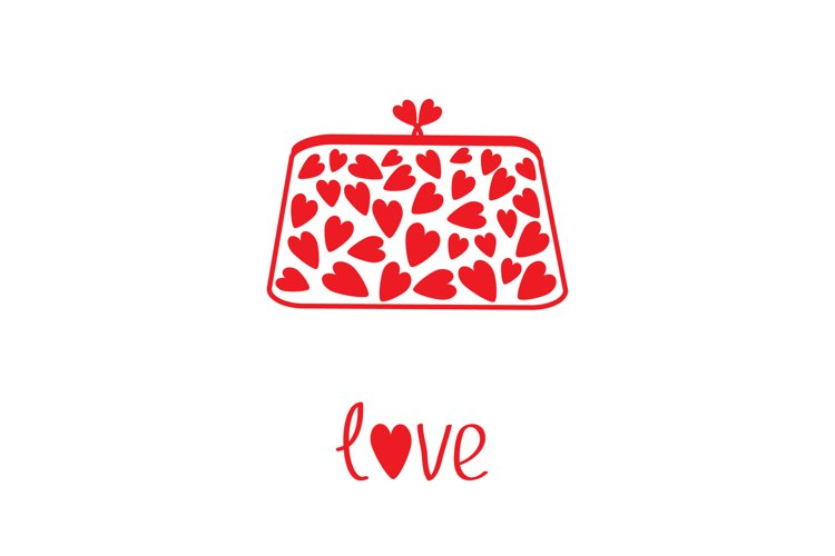 Clutch with red hearts.. Love. Happy Valentines Day example image 1